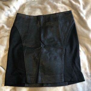 Gently worn Leather skirt